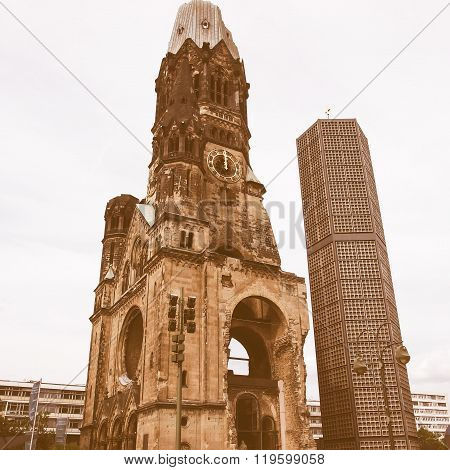 Bombed Church, Berlin Vintage