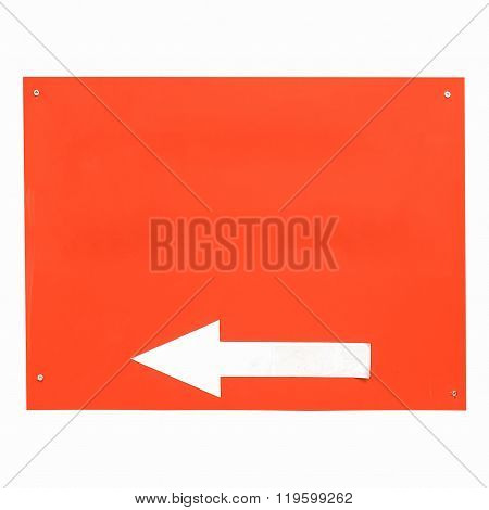 Direction Arrow Sign Isolated Vintage