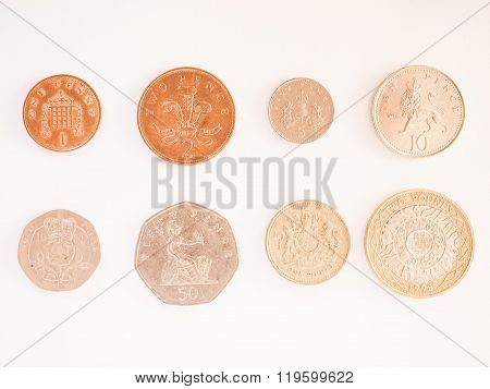 Pound Coin Series Vintage