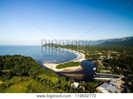 Aerial View of Barra do Una, Sao Sebastiao, Brazil