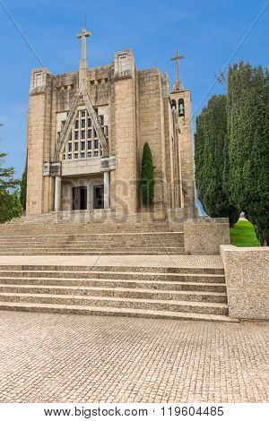Monte De Santa Catarina Or Penha Mountain Church, Guimaraes, Portugal