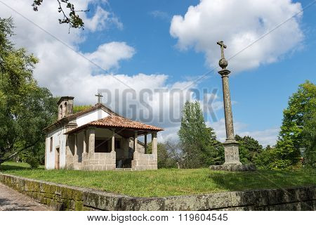 Chapel Of Santa Cruz Located In Guimaraes - Portugal