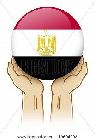 Pray For Egypt Illustration