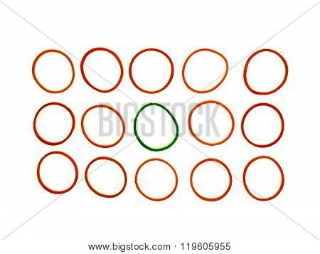 Red And Green Elastic Band