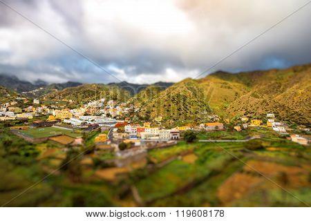 Vallehermoso village on La Gomera island