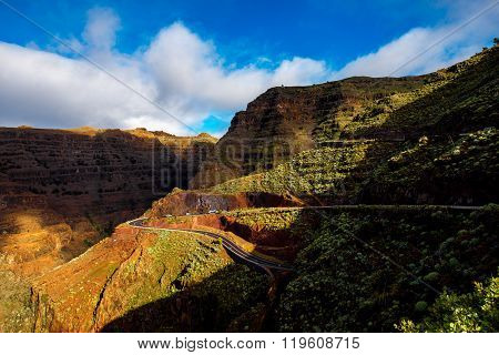 Mountain road on La Gomera island