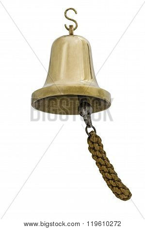 Brass Bell, Isolated On White Background