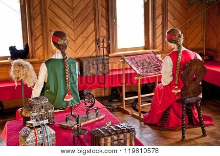 Traditional home interior Russian aristocracy of the 17th centur