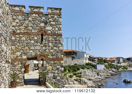 ancient fortifications and old town of Sozopol, Burgas Region, Bulgaria