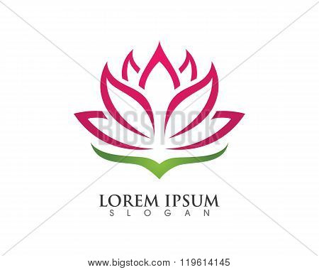 Stylized lotus flower