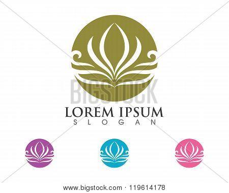 Stylized lotus flower Logo
