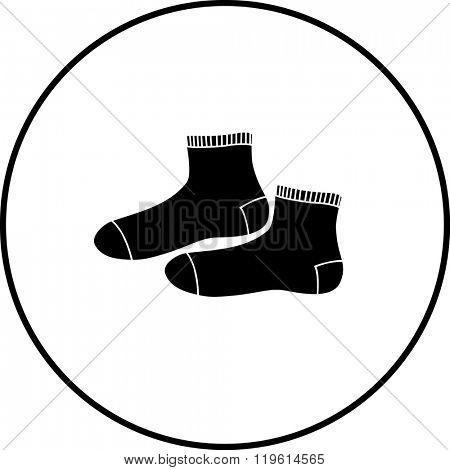 ankle crew socks symbol