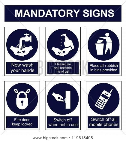 Mandatory Safety signs