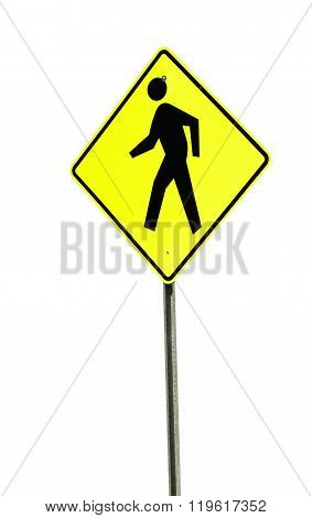 pedestrian sign isolated on white