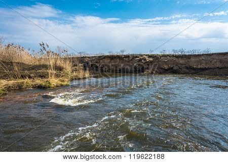 A Strong Current In A Small River.