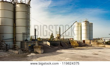 Silos Of Storage Of Cement