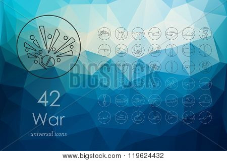 Set of war icons