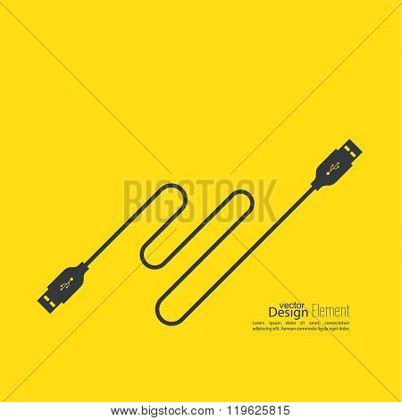 Abstract background with usb cable.