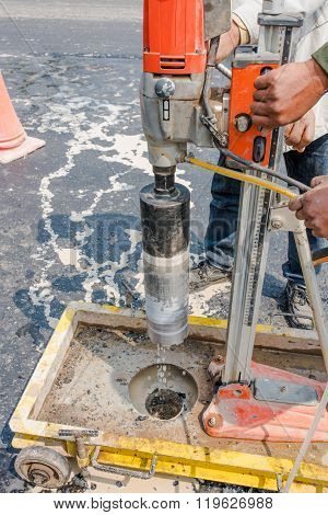 Testing for Compaction using Coring test buy machine