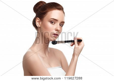 Beautiful Young Woman With Tassel