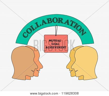 Collaboration business poster