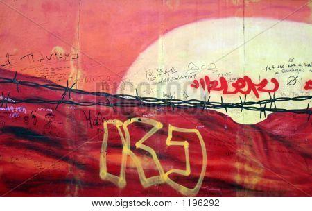 Grafitti On The Berlin Wall In Berlin, Germany