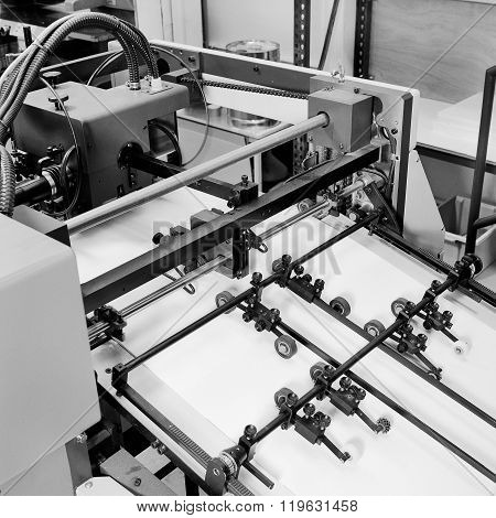 Detail Shot Of The Workings Of A Printing Factory.