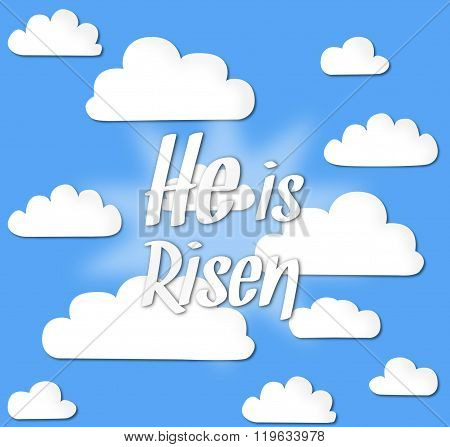Easter sunday holy week sunrise card