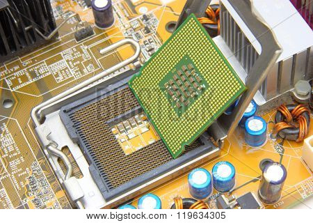 Processor on the computer motherboard