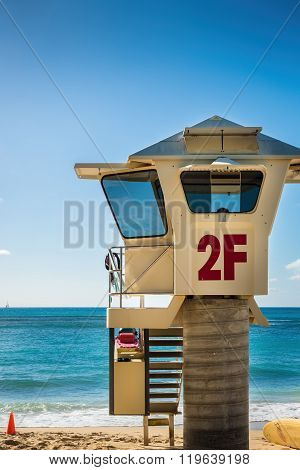 Surf lifesaver's observation hut