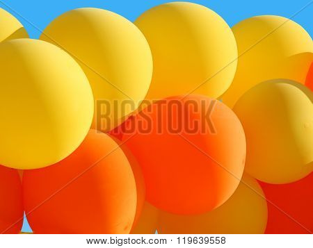 Background of beautiful balloons