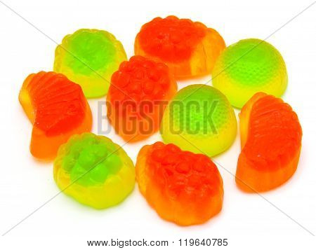 Fruit candy multi-colored all sorts, a background