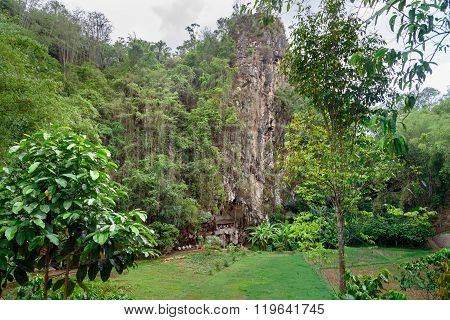 Londa Is Cliffs And Cave Burial Site In Tana Toraja, South Sulawesi, Indonesia