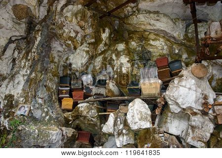 ?ollection Of Coffins In Londa. Tana Toraja, South Sulawesi, Indonesia