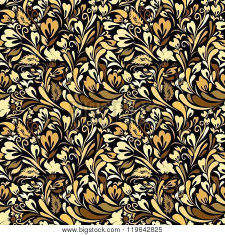 Art Nouveau Floral Seamless Background