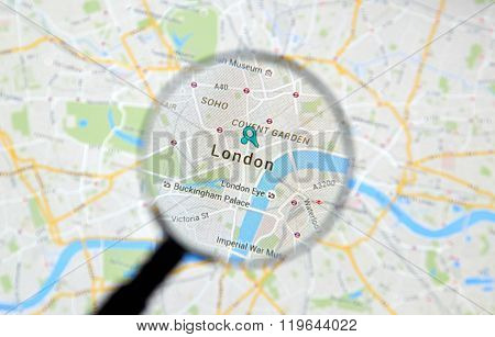 London On Google Maps.