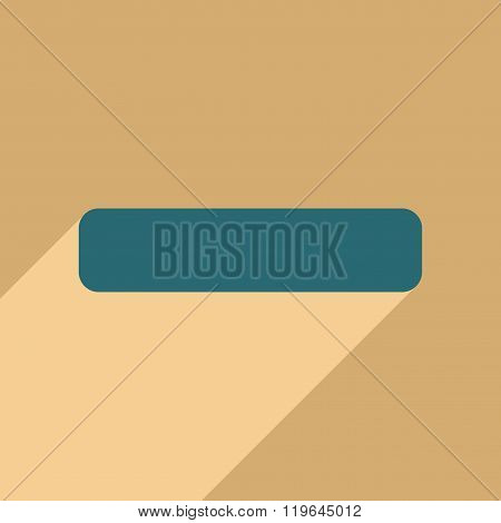 Flat with shadow icon and mobile application minus