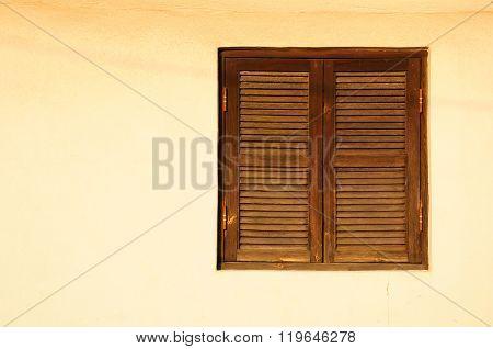 Old shuttered window.