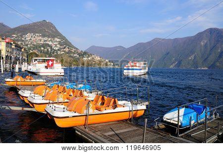 Lugano lake.
