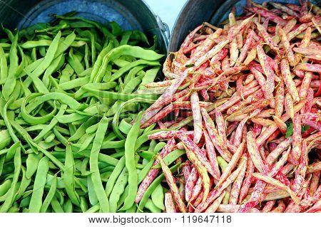 Organic string beans.