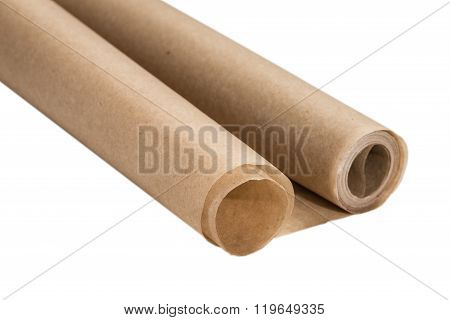 Baking Paper On A White Background