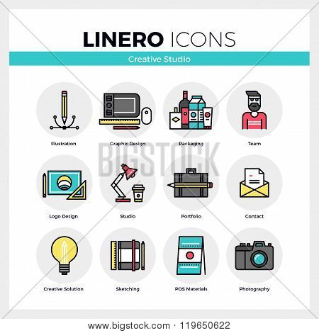 Creative Studio Linero Icons Set