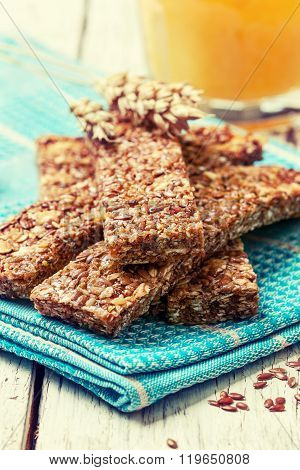 Cereal Bars,  Flax Seeds And Orange Juice (toning)