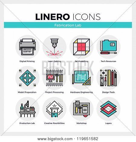 Fabrication Lab Linero Icons Set