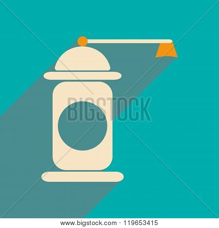 Flat with shadow icon and mobile application pepper mill