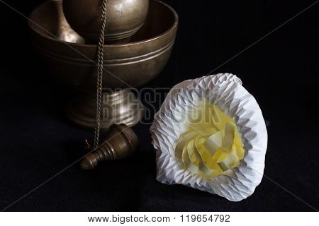 Still Life Photography By Small Contrainer And Flower