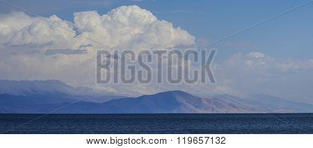 Mountain Lake Sevan Panorama. Armenia