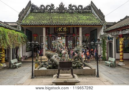 Dragon Sculptures At Hoi Quan Quang Trieu Temple ( Cantonese Assembly Hall ), Hoi An, Vietnam