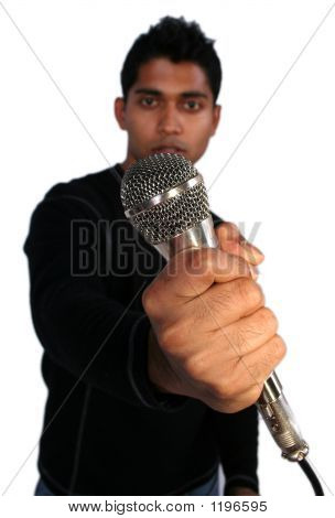 Man And Mic