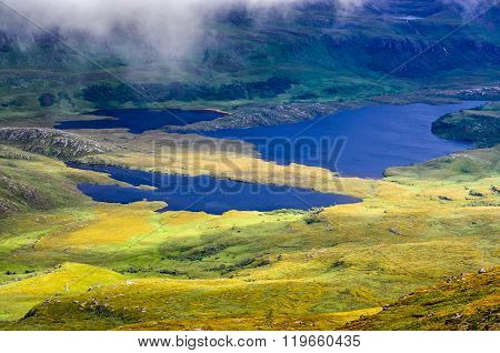 Wilderness Landscape At Inverpolly In Highlands Of Scotland